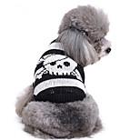 Собака Свитера Одежда для собак На каждый день Черепа Костюм Для домашних животных