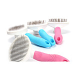 Dog Health Care Brush Anti-Slip Blue Pink