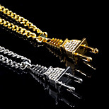 Men's Pendant Necklaces Alloy Bling Bling Classic Jewelry For Daily Casual