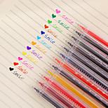 12 PCS/Set 12-Color Thermometer Gel Pen