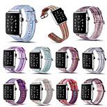 для серии часов яблока 3 2 1 радужный полосатый неподдельный кожаный ремешок для часов 38мм 42мм красочный ремешок для часов