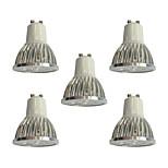 5 pezzi 4W GU10 Faretti LED 4 leds LED ad alta intesità Oscurabile Luci a LED Bianco 360lm 6000K 110-120V