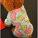 Dog Clothes/Jumpsuit Dog Clothes Casual/Daily Cartoon Blue Gray