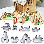 8 Pcs/set Christmas Cookie Cutter Set Stainless Steel Biscuit Mould Cookies Mould