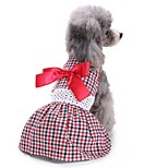 Cat Dog Coat Tuxedo Dress Dog Clothes Party Casual/Daily Wedding Christmas New Year's Bowknot Red
