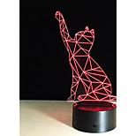 1 комплект Декоративная Меняет цвета Декоративное освещение LED Night Light USB огни-3W-Батарея USB