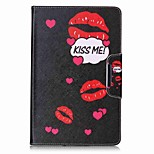 Word Pattern Card Holder Wallet with Stand Flip Magnetic PU Leather Case for Samsung GALAXY Tab E 9.6 T560 T561 9.6 inch Tablet PC