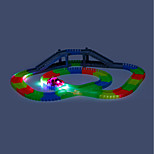 Игрушечные гоночные машины и дорожки Гоночная машинка Подземные работы - разработка длинными забоями Игрушки LED Фосфоресцирующий Своими