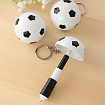 1 PC Football Soccer Design Blue Ink Telescopic Pen