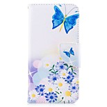 Case For V30 Q6 Card Holder Wallet with Stand Flip Magnetic Pattern Full Body Butterfly Hard PU Leather for LG Q6 LG V30