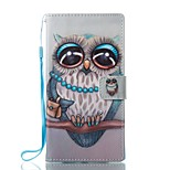 For Case Cover Card Holder Wallet with Stand Flip Magnetic Pattern Full Body Case Owl Hard PU Leather for Sony Sony Xperia L1