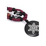 Herrn Damen Halsketten Anhängerketten Runde Form Blumenform Horn Holz Schmuck Für Strasse Ausgehen