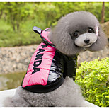 Dog Vest Dog Clothes Casual/Daily Cartoon Yellow Fuchsia Costume For Pets