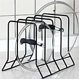 4 Layers Iron Kitchen Storage Pot Lid Holder Cutboard Holder