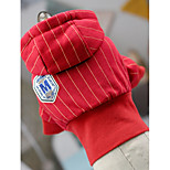 Dog Hoodie Dog Clothes Casual/Daily British Red White