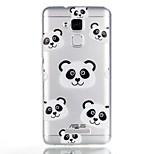 For Case Cover Pattern Back Cover Case Cartoon Panda Soft TPU for ASUS Asus Zenfone 3 Max ZC520TL