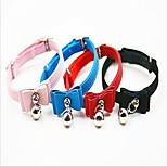 Dog Collar With Bell Bowknot PU Leather