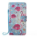 For Case Cover Card Holder Wallet with Stand Flip Magnetic Pattern Full Body Case Flamingo Hard PU Leather for Huawei Huawei P10 Lite