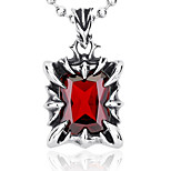 Men's Pendants Cubic Zirconia Square Zircon Titanium Steel Fashion Punk Jewelry For Party/ Evening Daily