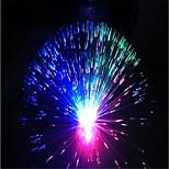1pc рождество красочный фонарик волокна оптические звездные флуоресценции розовые цветы свет лампы без батареи
