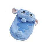 Cat Dog Hoodie Dog Clothes Plush Fabric Winter Casual/Daily Cartoon Light Blue For Pets