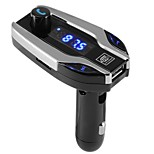 bluetooth car x7 kit manos libres transmisor fm radio reproductor mp3 usb cargador sd tf mmc lcd remote