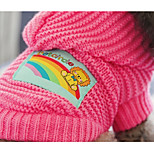 Dog Sweater Dog Clothes Casual/Daily Geometic Blushing Pink Blue Yellow