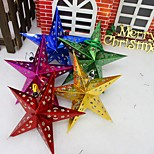 cheap -1Pc Christmas Decorations Three-Dimensional Laser Pentagram Bar Ceiling Decoration