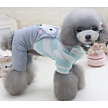 Dog Jumpsuit Dog Clothes Casual/Daily Cartoon Green Pink Costume For Pets