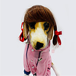 Cat Dog Wig Dog Clothes Party Cowboy Halloween Christmas Solid Gold Brown Costume For Pets