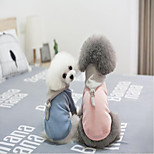 Dog Clothes Casual/Daily Christmas Solid Blue Pink Costume For Pets