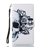 For Case Cover Card Holder Wallet with Stand Flip Magnetic Pattern Full Body Case Skull Hard PU Leather for Sony Sony Xperia L1