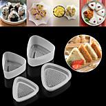 4 stücke küche bento dekorieren sushi onigiri form lebensmittelpresse dreieckige form reiskugel maker