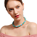 Women's Choker Necklaces Chain Necklaces Circle Acrylic Handmade Elegant Jewelry For Party Festival