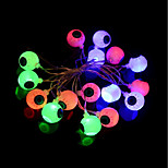1set Halloween Horrible Eyes String Led Light Bar 28 Lamp Holder 3M Ac220v Colorful EU Plug