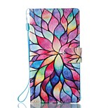 For Case Cover Card Holder Wallet with Stand Flip Magnetic Pattern Full Body Case Flower Hard PU Leather for Sony Sony Xperia L1