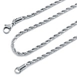 Men's Women's Chain Necklaces Stainless Steel Basic Jewelry For Holiday Going out