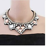 Women's Choker Necklaces Imitation Diamond Geometric Zircon Alloy Fashion Classic Jewelry For Daily Stage