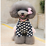 Dog Dress Dog Clothes Leisure Princess Blue Pink Costume For Pets