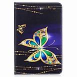 schmetterling muster kartenhalter brieftasche mit stand flip magnetische pu ledertasche für samsung galaxy tab a 8,0 t350 t355 8,0 zoll
