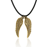Men's Pendant Necklaces Wings / Feather Feather Alloy Double Sided Hip-Hop Jewelry For Daily Casual