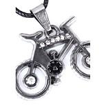 Муж. Ожерелья-бархатки Ожерелья с подвесками Круглой формы Кожа Титановая сталь По заказу покупателя Простой стиль Бижутерия Назначение