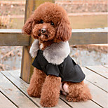 Dog Coat Dog Clothes Cotton Spring/Fall Winter Keep Warm Halloween Christmas Solid Black Gray For Pets