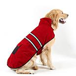 Dog Coat Dog Clothes Keep Warm Solid Jade Red Dark Blue Orange
