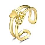 Жен. Классические кольца Бижутерия Мода Открытые Медь Серебрянное покрытие В форме сердца Бабочка Бижутерия Назначение Для вечеринок