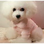 Собака Пижамы Одежда для собак На каждый день Сплошной цвет Лиловый Пурпурный Красный Синий Розовый