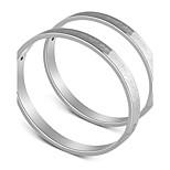 Муж. Жен. Браслет цельное кольцо Любовь Сексуальные платья Нержавеющая сталь Бижутерия Назначение Свадьба Обручение