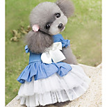 Dog Dress Dog Clothes Casual/Daily Bowknot Blue