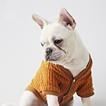 Dog Sweater Dog Clothes Casual/Daily Solid Black Coffee Costume For Pets