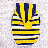 Dog Hoodie Dog Clothes Leotards Stripe Yellow Red Costume For Pets
